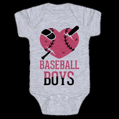 Baseball Boys Baby Onesy
