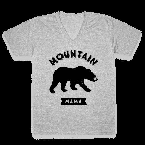 Mountain Mama V-Neck Tee Shirt
