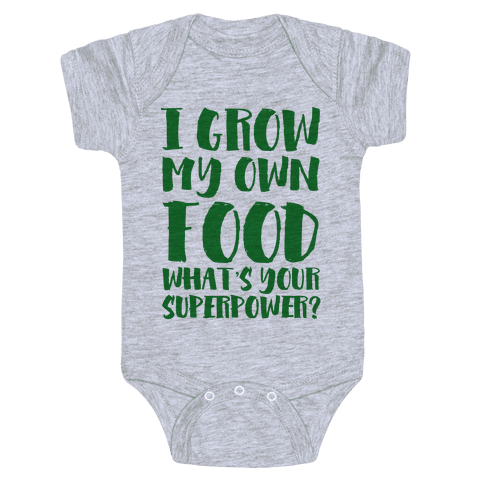 I Grow My Own Food Baby Onesy