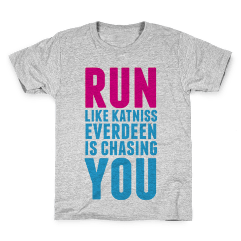 Run Like Katniss is Chasing You Kids T-Shirt
