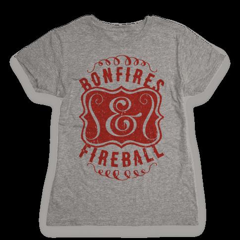 Bonfires And Fireball Womens T-Shirt
