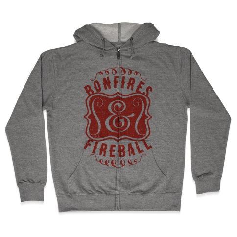 Bonfires And Fireball Zip Hoodie