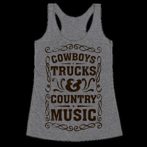 Cowboys Trucks & Country Music Racerback Tank Top