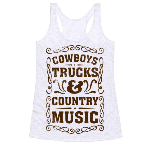 Cowboys Trucks & Country Music Racerback Tank Top
