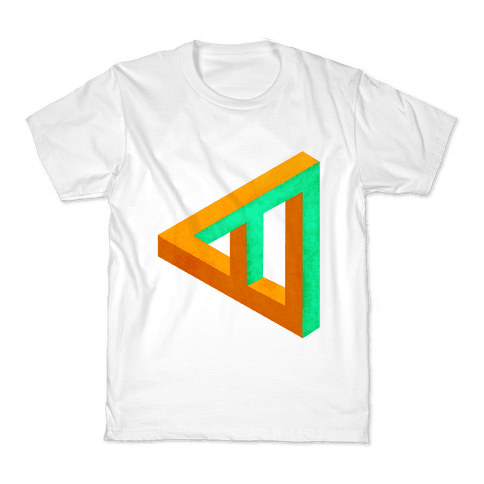 Triangle Optical Illusion Kids T-Shirt