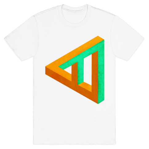 Triangle Optical Illusion Mens T-Shirt