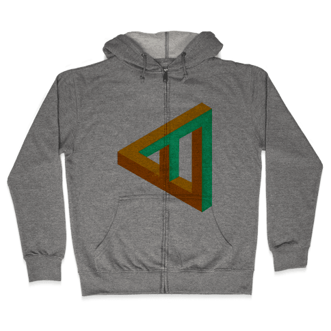 Triangle Optical Illusion Zip Hoodie