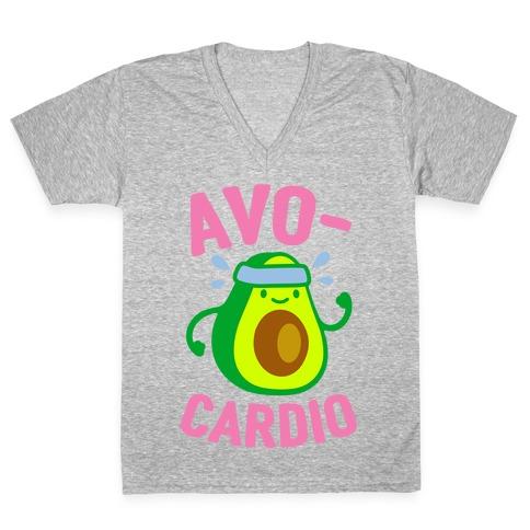 Avocardio Avocado V-Neck Tee Shirt
