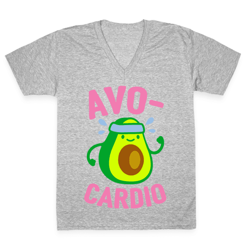 Avocardio Avocado V-Neck Tee Shirt