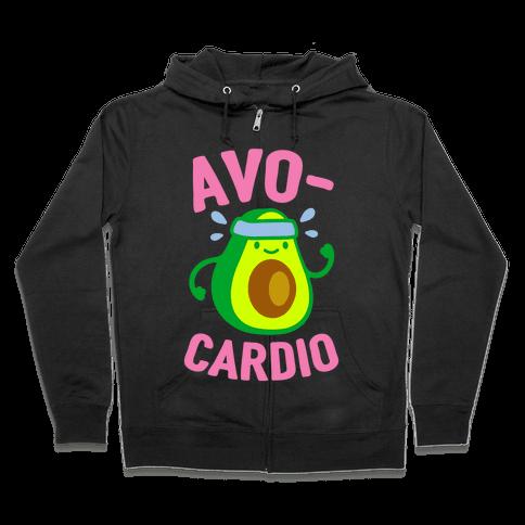 Avocardio Avocado Zip Hoodie