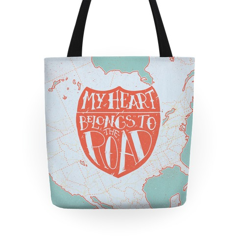 My Heart Belongs to the Road Tote