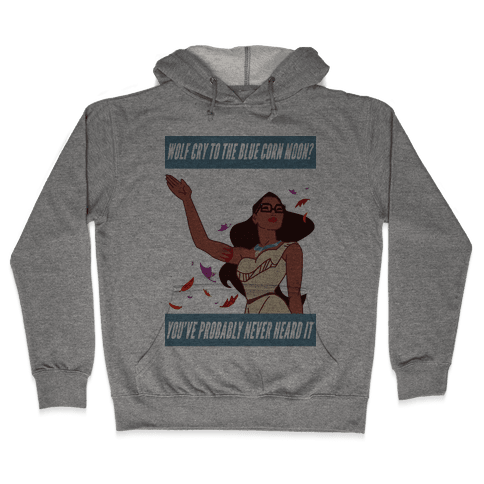 Hipster Pocahontas Hooded Sweatshirt