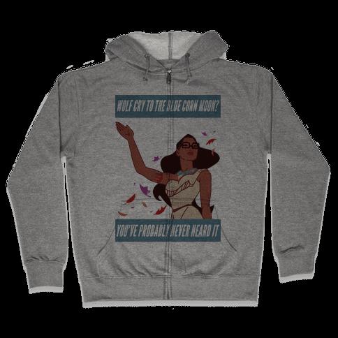 Hipster Pocahontas Zip Hoodie