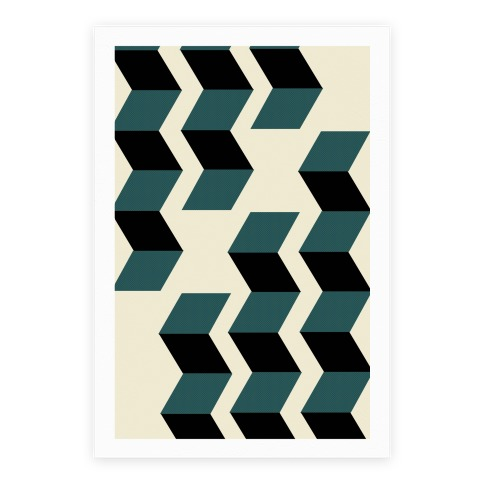 Geometric Folding Screen Poster