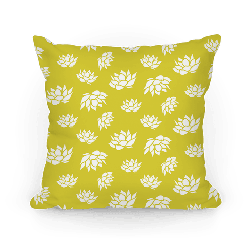 Yellow Lotus Flower Pattern Pillow