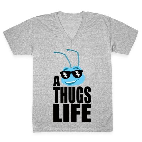 A Thugs Life V-Neck Tee Shirt