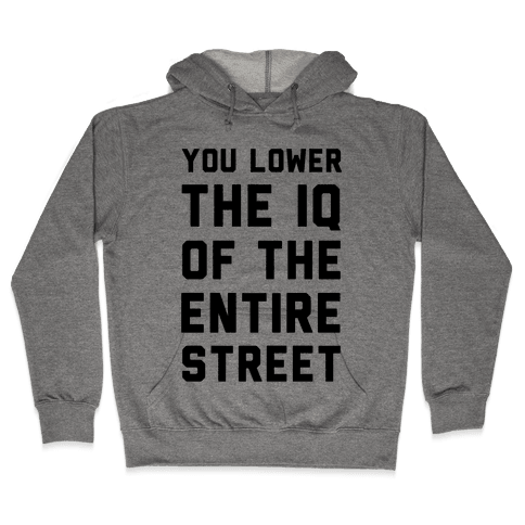 You Lower the IQ of the Entire Street Hooded Sweatshirt