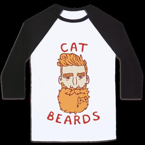 Ginger Cat Beards Baseball Tee