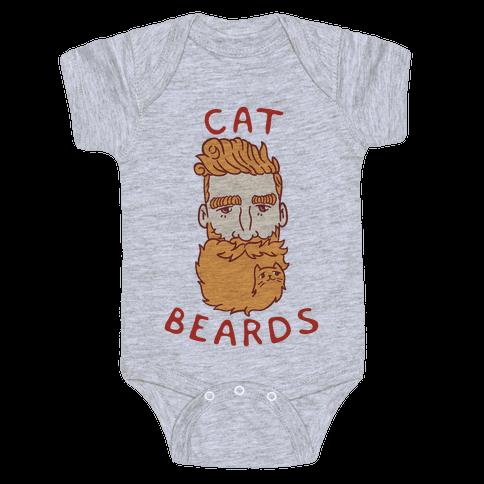 Ginger Cat Beards Baby Onesy