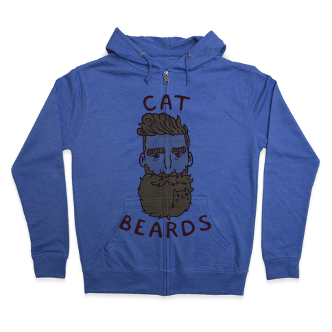 Ginger Cat Beards Zip Hoodie