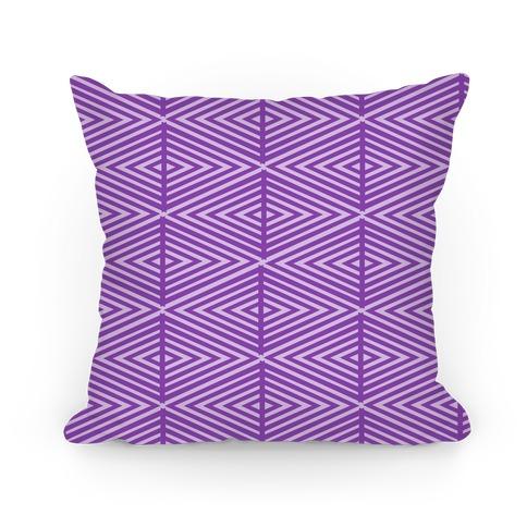 Purple Geometric Diamond Pattern Pillow