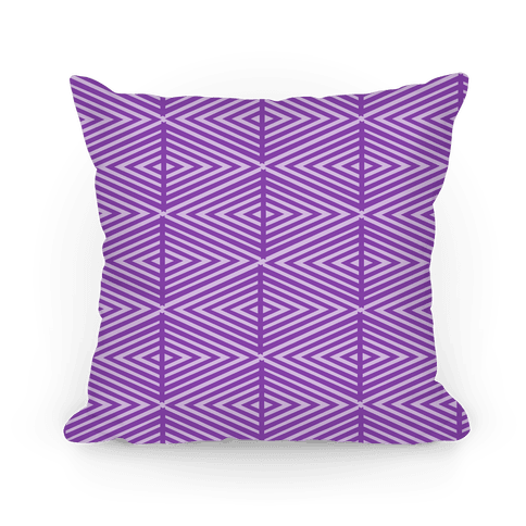 Purple Geometric Diamond Pattern Pillow