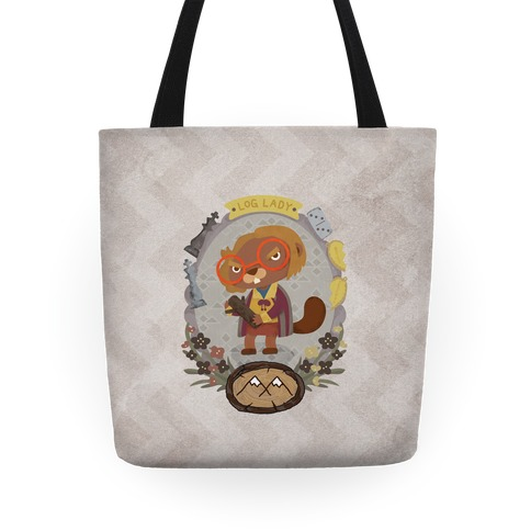 Log Lady Beaver Tote