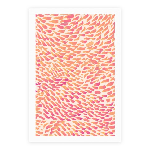 Watercolor Flower Petals Poster
