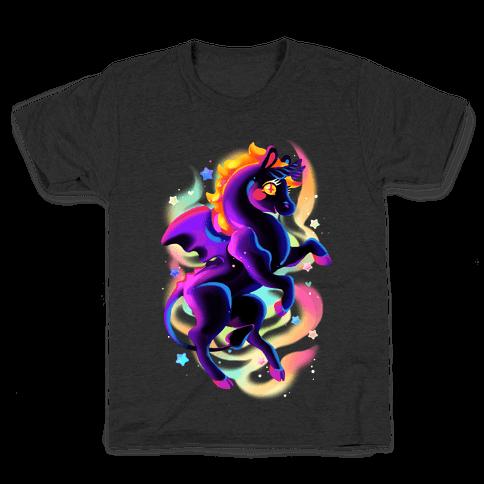 Neon Rainbow Jersey Devil Kids T-Shirt