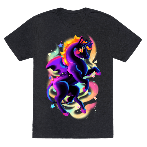 Neon Rainbow Jersey Devil Mens T-Shirt