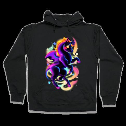 Neon Rainbow Jersey Devil Hooded Sweatshirt