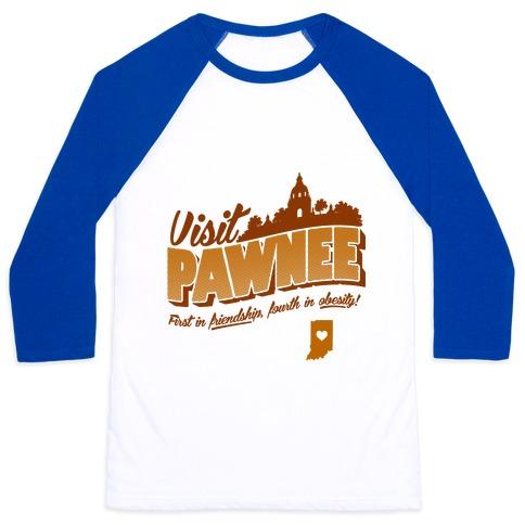 Visit Pawnee Baseball Tee