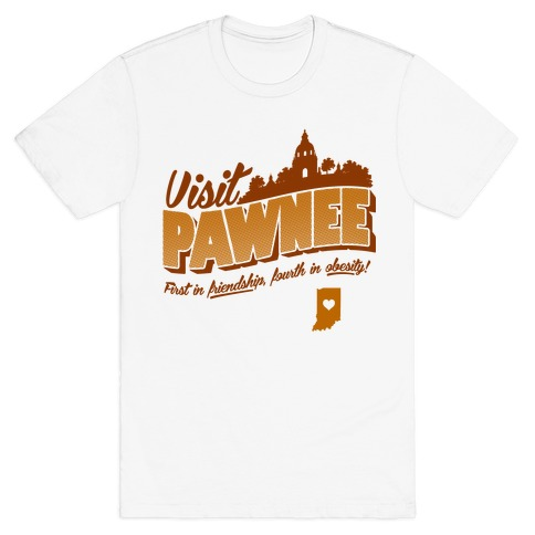 Visit Pawnee Mens T-Shirt