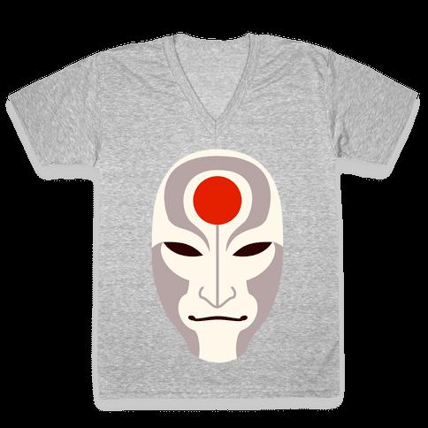 Amon Mask V-Neck Tee Shirt