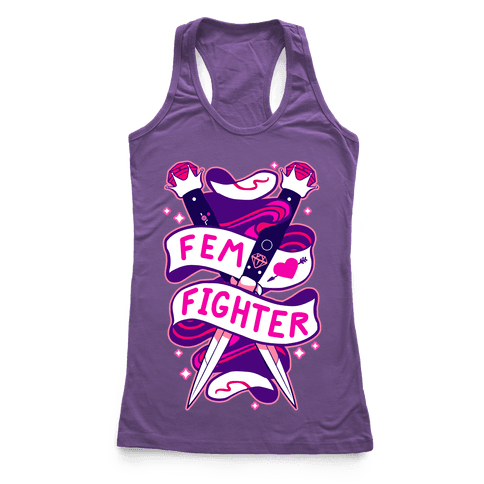 Fem Fighter Racerback Tank Top