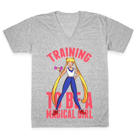 Training To Be A Magical Girl V-Neck Tee Shirt