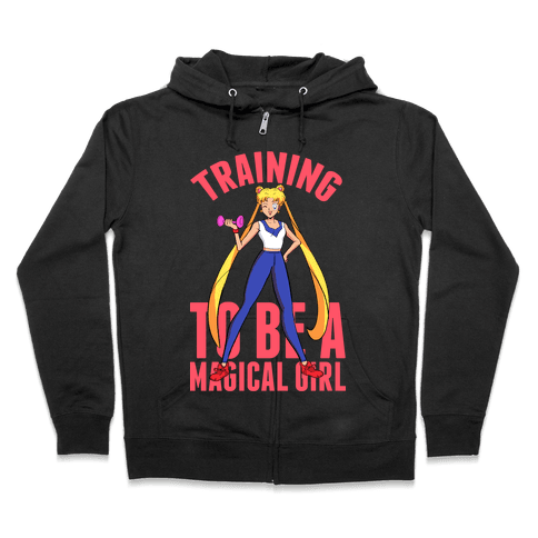 Training To Be A Magical Girl Zip Hoodie