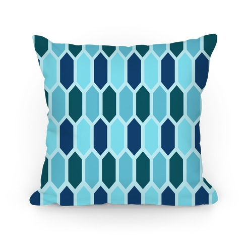Blue Crystals Pillow