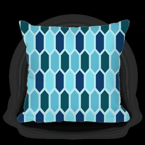 Blue Crystals Pillow