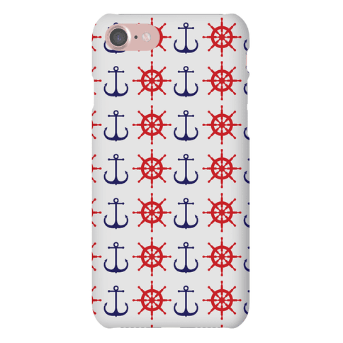 Anchor and Ship Wheel Pattern