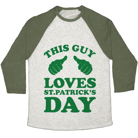 This Girl Loves St.Patricks Day Baseball Tee