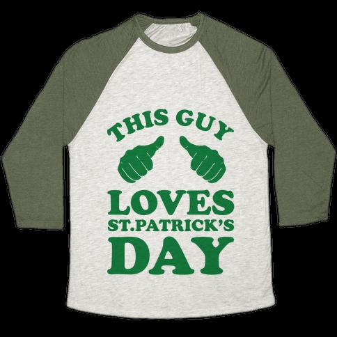 This Girl Loves St.Patricks Day Baseball Tee