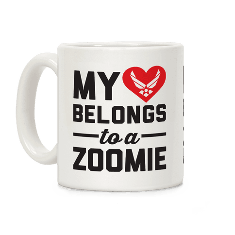 My Heart Belongs To A Zoomie Coffee Mug