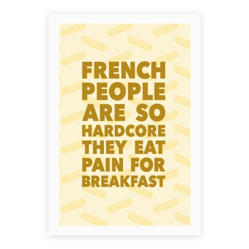 Pain For Breakfast Poster