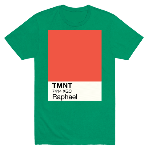 Raphael Color Swatch Parody Mens T-Shirt