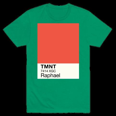 Raphael Color Swatch Parody Mens T-Shirt