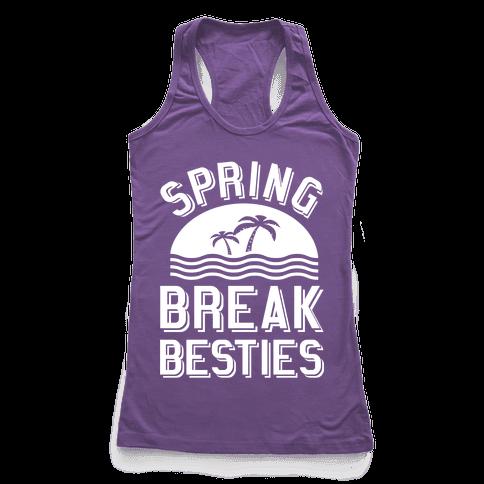 Spring Break Besties Racerback Tank Top