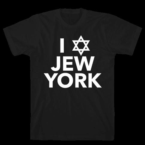 I Love Jew York Mens T-Shirt