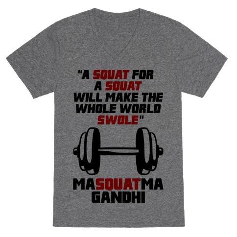 A Squat For A Squat V-Neck Tee Shirt