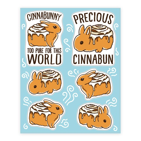 Cinnabunny Sheet Stickers and Decal Sheet